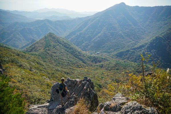 Views from Naejangsan National Park, South Korea