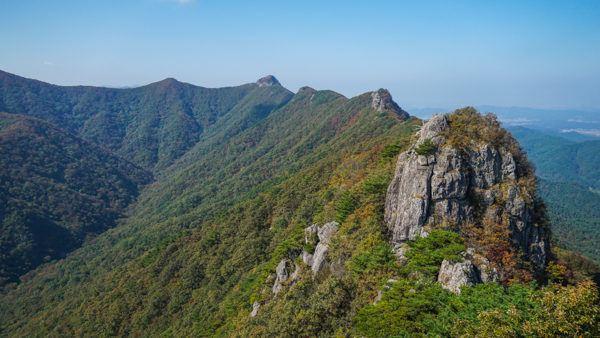 Mountains at Naejangsan National Park