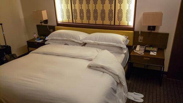 Bed at the Millennium Hilton Seoul