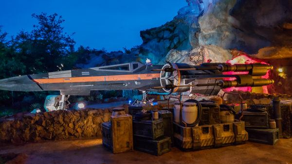 X Wing on Star Wars: Rise of the Resistance