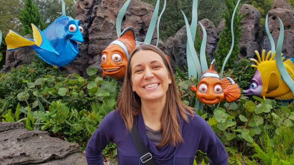 Angie at the Finding Nemo Ride at Epcot
