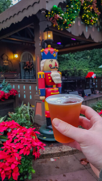 German Beer with Nutcracker at Epcot