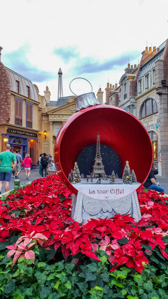 Christmas at France Pavilion at World Showcase