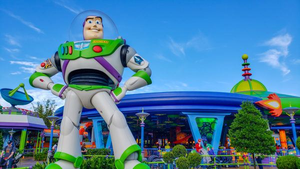 Buzz Lightyear at Toy Story Land at Hollywood Studios
