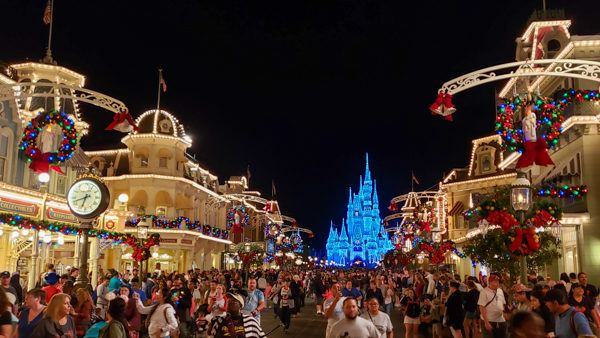 Disney's Magic Kingdom at Christmas