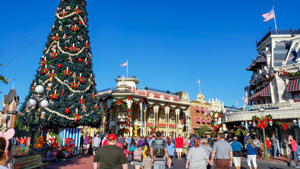 Main Street at Magic Kingdom at Christmas