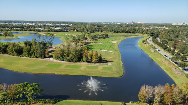 View from Room 1401 at Hilton Bonnet Creek - Hollywood Studios and Animal Kingdom in Background