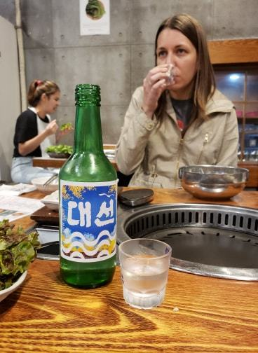 Soju with Korean Barbecue