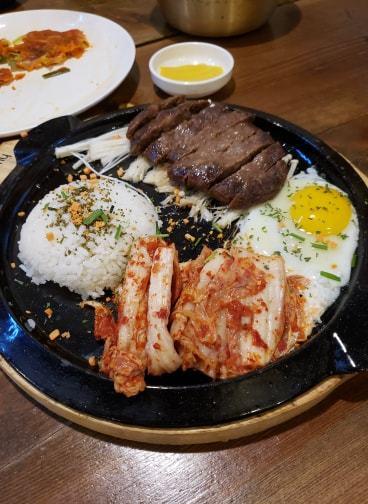 Kalbi beef shortribs in Korea