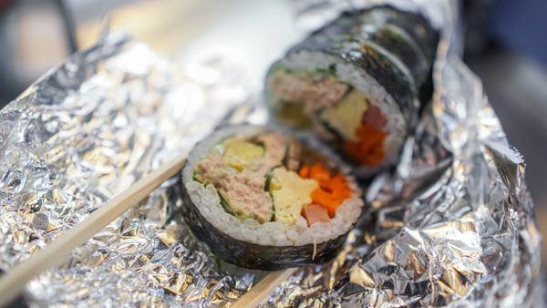 Gimbap Sushi Rolls in Korea