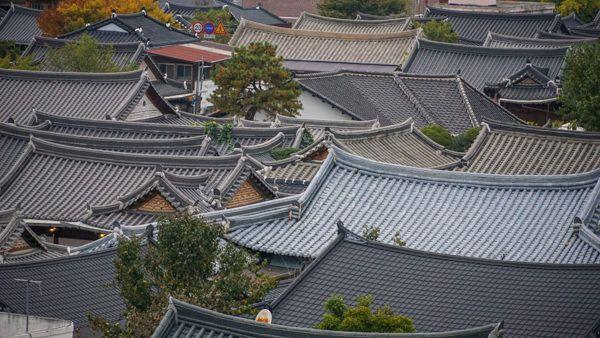 Hanok Rooftops in Jeonju