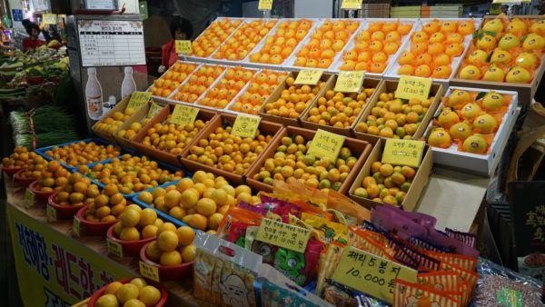 Jeju Oranges at Seogwipo Market