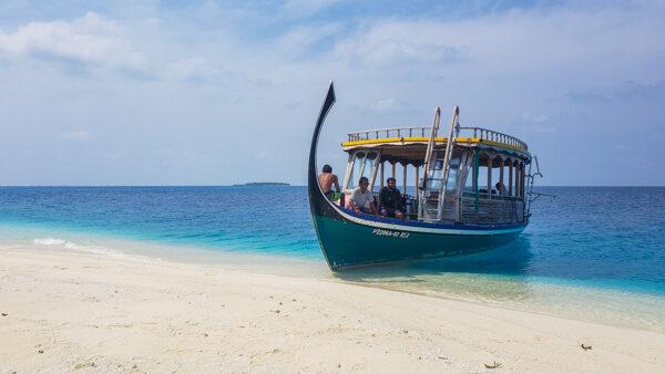 Dhoni in the Maldives
