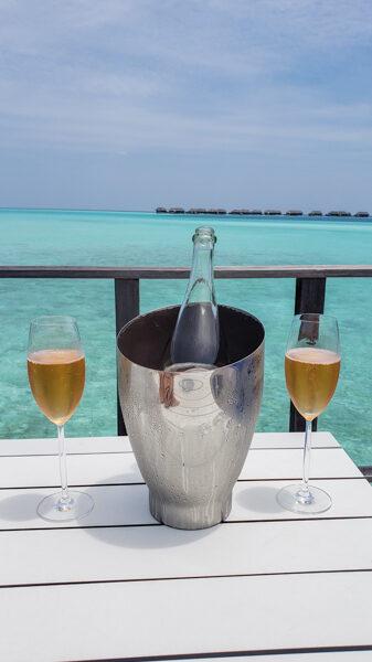 Welcome Champagne at Conrad Rangali