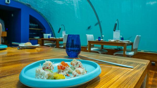 Starter at Ithaa Underwater Restaurant