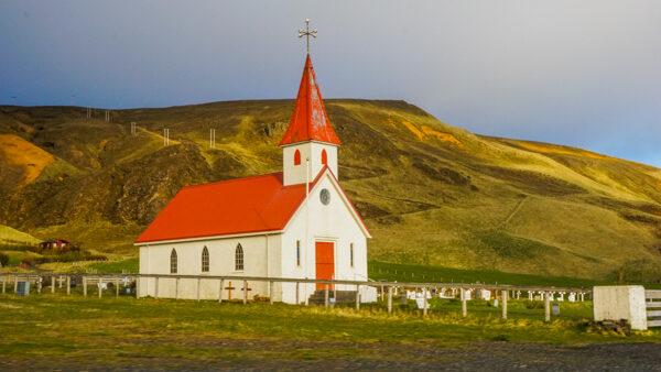 Golden Hour on an Icelandic Church