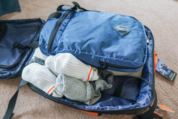 Packing Cube in Standard Luggage Suitcase