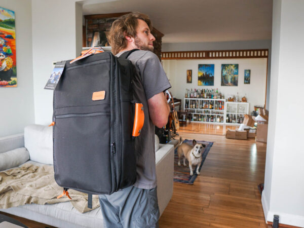 Size Comparison for Standard Luggage Backpack
