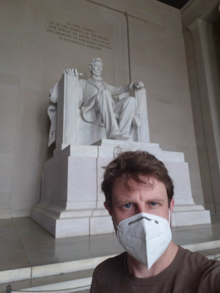 Mask Up at the Lincoln Memorial