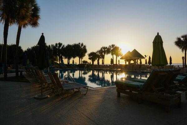 Marriott Hilton Head Pool at Sunrise