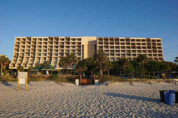 Main Building of Marriott from the Beach