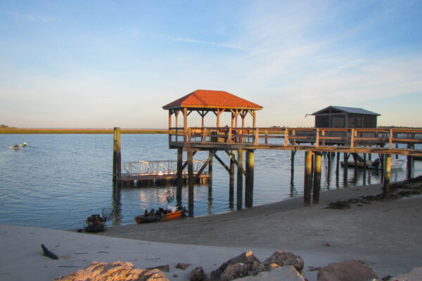 Shoreline on Tybee Island at Sunrise