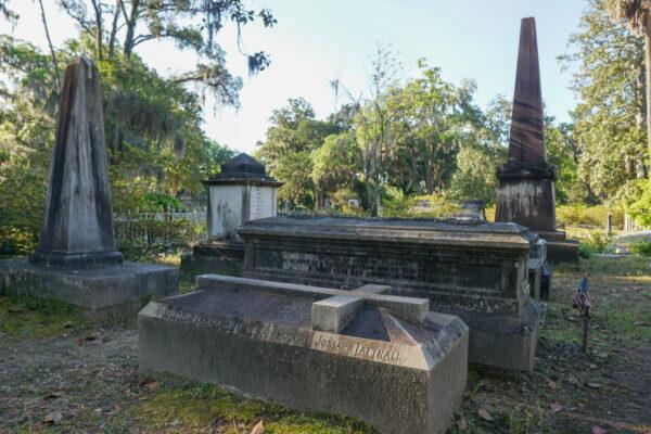 Graves at Bonaventure Cemetery Near Savannah