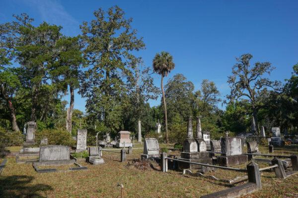 Graves at Bonaventure Cemetery Near Savannah, GA