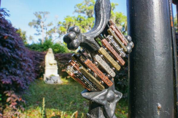 Bracelet at Little Gracie's Grave at Bonaventure Cemetery