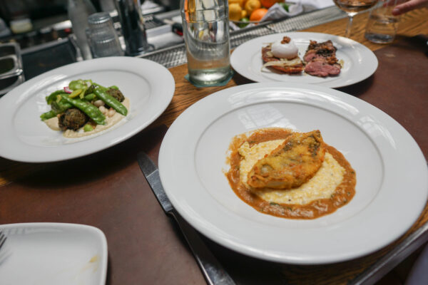 Fish and Grits, Falafel, and Duck Pastrami