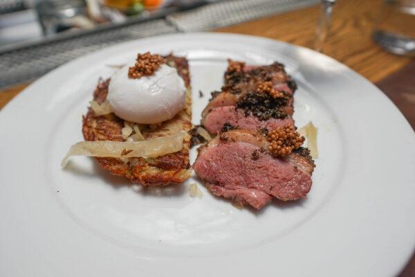 Duck Pastrami and Rosti at The Grey Savannah