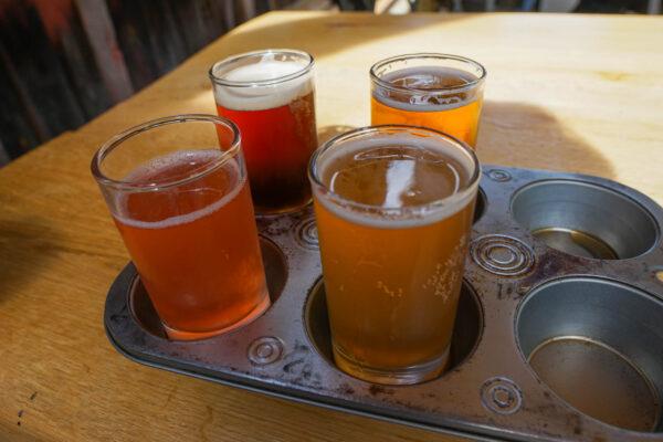 Beer Flight at Swover Creek