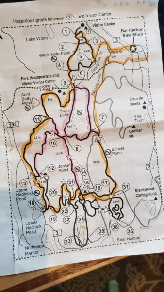 Acadia Carriage Trail Map