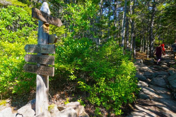Hiking Signs at Acadia