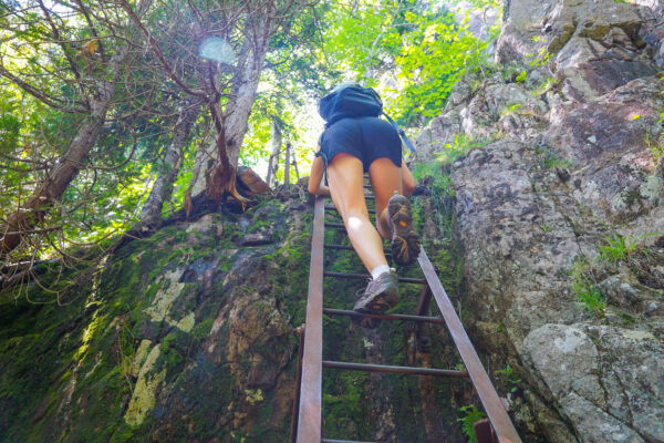 Climbing Up the Beech Cliff Loops Trail