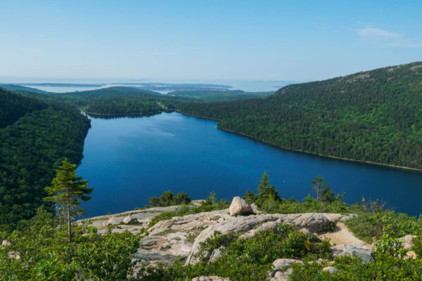 View of Jordan Pond from the Bubbles Summit