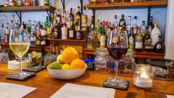 Wine at Salt and Steel Bar Harbor