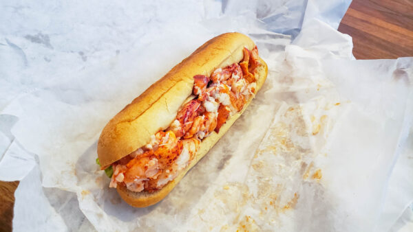 Maine Lobster Roll from The Landing Store in Kennebunk