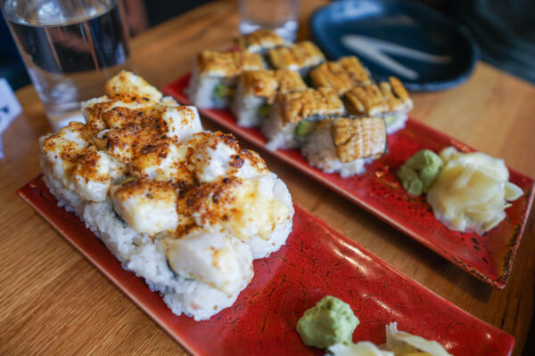 Scallop and Eel Rolls from Pai Men Miyake in Portland