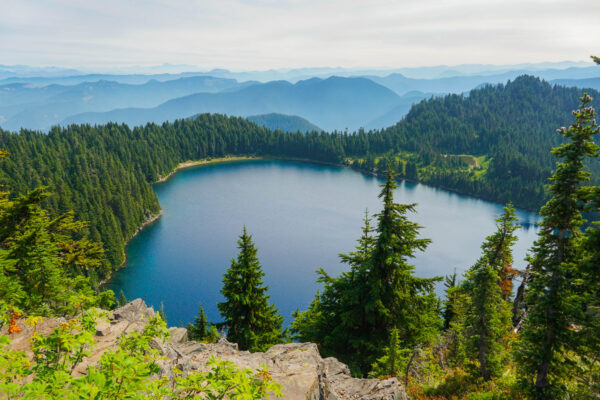 Summit Lake and Mountains
