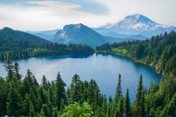 Mount Rainier and Summit Lake
