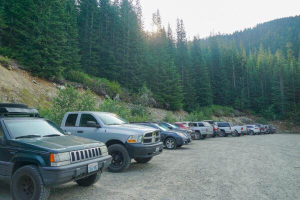 Trailhead Parking Lot for Summit Lake Hike